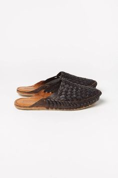 Woven Leather Slides Black – Lily Water Buffalo, Slow Fashion, March, Lily, Pairs, How To Wear, Leather, Shopping, Shoes