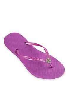 f4b628c60 havaianas Slim Crystal Flower Flip-Flops Shoes - All Shoes - Bloomingdale s