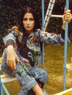 Cher 1972 denim embellished 1970 authentic