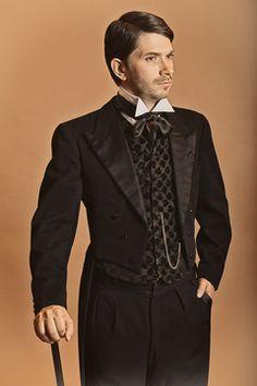 Le costume début de siècle de soirée Damien est disponible à la location.