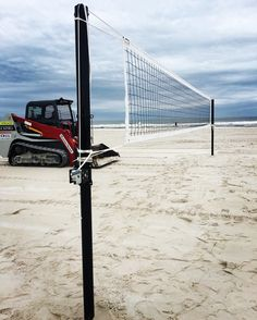 Beach Volleyball Court Set Up For The 2017 Ncaa Championship Outdoor Net