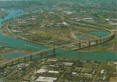 Aerial view of Westgate Bridge, Melbourne Melbourne Australia, Aerial View, New Zealand, City Photo, History, 1970s, Bridge, Korea, Pictures