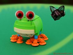 Red-eyed tree frog and one unlucky fly. I've been hoping to make a cartoon-y frog for a while now, so this was the perfect opportunity. A little out of my ordinary, but fun nonetheless.  Built for Iron Builder 3.0; the seed part this round is the clear hemisphere.  www.BruceLowell.com