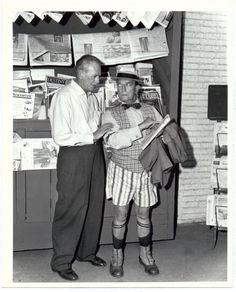 Buster on the set of the Twilight Zone 1961