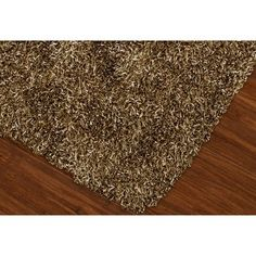 "Lustrous Shoestring Shag Accent Rug - Taupe (Brown) (3'6""x5'6"")"