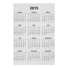 2015 calendar posters