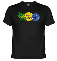 "Camiseta ""I love Brazil"". Ésta y muchas otras camisetas en www.latostadora.com/mundopercusion"