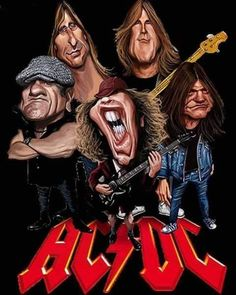 Cartoon Crazy, Cartoon Faces, Cartoon Art, Funny Caricatures, Celebrity Caricatures, Heavy Metal Art, Heavy Metal Bands, Hard Rock, Image Rock