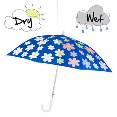 Magical Colour Changing Flower Umbrella are perfect for rainy days!