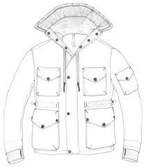 technical drawing parka - Google Search