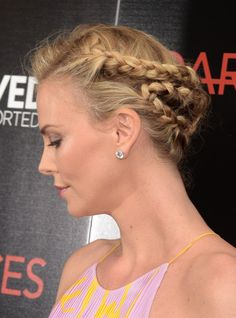 Charlize Theron's braided updo