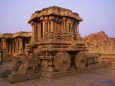 The remains of Vijayanagara city, in Hampi village, Karnataka state, India.