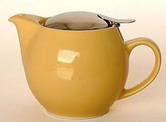 Bee House Ceramic Round Teapot Banana by Bee House. $37.68. Microwave and Dishwasher Safe (Ceramic Portion). Removable Stainless Steel Mesh Infuser. An Elegant Addition to the Bee House Tradition of Fine Japanese Teapots. Brew Tea For One or Two people. 15-oz. Ceramic Teapot. Brew tea for one or two people. Simply scoop loose-leaf tea into the removable stainless steel mesh infuser, steep with hot water for the desired time and savor the pleasures of a simple cup of tea. The Fift...