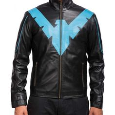 Avail the jacket that has been design for youth. This is Dick Grayson Nightwing Jacket. This attire is inspired by Danny Shepherd who played the role of Dick Grayson, a superhero. The jacket has Nightwing eagle logo at front and our designer use the good quality material to make you feel comfortable in carrying. Visit our online store and get at best price.