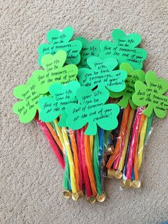 """Yw handout for st Patrick's day """"Your life can be full of treasures at the end of your rainbow"""""""