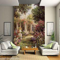 European Garden Wall Paper Wall Print Decal Wall Deco Indoor Wall Mural Home | eBay