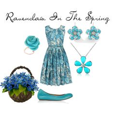 Ravenclaw In The Spring, created by nearlysamantha on Polyvore