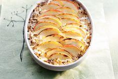 Een gerecht smaakt nóg lekkerder als het er mooi uitziet, zoals hier met de dunne plakjes appel - Recept - Allerhande