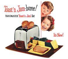 Toastmaster Toast 'n Jam Set, 1950