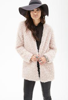Karl Lagerfeld - Faux Fur Coat - Light gray | Women Fur ...