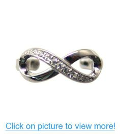 925 Sterling Silver CZ Infinity Toe Ring Adjustable