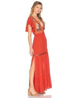 Boho Chic Deep V-neck Ruffle Sleeve Embroidered Long Maxi Dress Boho Dress, Dress Skirt, Dress Up, Evening Dresses, Summer Dresses, Maxi Dresses, Summer Outfits, Bohemia Dress, Boho Fashion