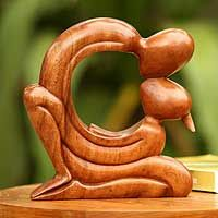 Wood statuette, 'Loving Tenderness' from @NOVICA, They help #artisans succeed worldwide.