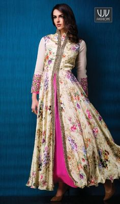 Lordly Print Work Multi Colour Georgette And Satin Designer Gown Design and trend would be at the peak of your beauty when you dresses this multi colour georgette and satin designer gown. The appealing print work a vital attribute of this dress