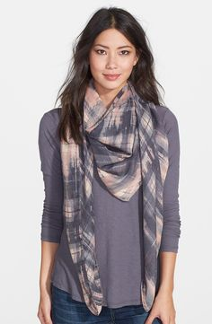 Amazing Vince Camuto urban plaid scarf at Nordstrom and awesome price.