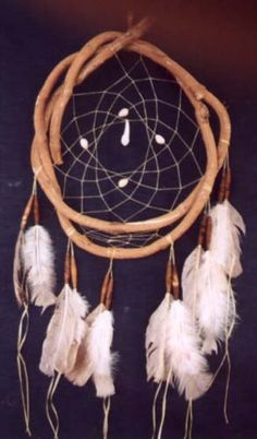 Dream Catcher:  hoop made with river willow.