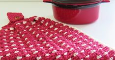 Crochet Kitchen Towel or Tea Towel Pattern using Block stitch.