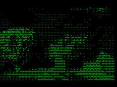 Vuk Cosic: 'Deep ASCII' (1998) http://www.ljudmila.org/~vuk/ascii/deep.htm Deep ASCII is a full length conversion of the classic porno film Deep Throat, which amounts to 55 minutes of pure mute ascii porn.