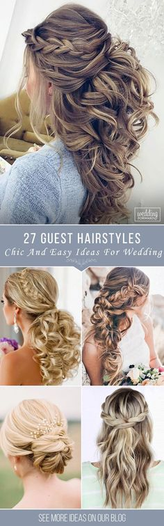 27 Chic And Easy Wedding Guest Hairstyles ❤️ Wedding guest hairstyles should be fancy, rather effortless than very difficult. In our gallery we have something any female guest would want for sure! See more http://www.weddingforward.com/wedding-guest-hairstyles/ #wedding #hairstyles