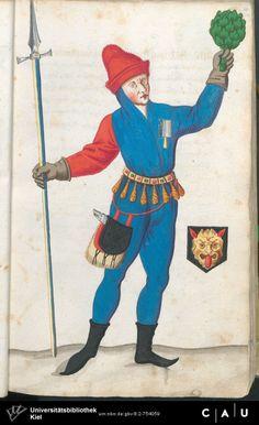 Nürnberger Schembart-Buch Erscheinungsjahr: 16XX  Cod. ms. KB 395  Folio 42