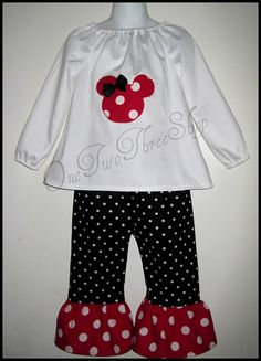 Minnie Outfit for a little girl!  Adorable way to get attention at a Disney Theme park from Cast Members!  Pixie Dusting is Certain!