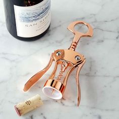 Copper Wine Opener from Williams Sonoma... I love rose gold and this opener is great!