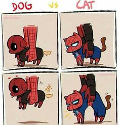 💙 Film: Spiderman and Deadpool ________________________________________ Marvel Dc Comics, Marvel Avengers, Marvel Fanart, Hero Marvel, Avengers Humor, Marvel Jokes, Funny Marvel Memes, Funny Comics, Deadpool X Spiderman