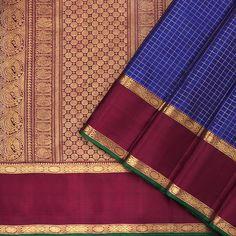 """Kattam & Vari - Checks and Stripes – tagged """"Craft/Fabric_Kanjivaram Silk"""" – Page 6 – Kanakavalli Kanakavalli Sarees, Ethnic Sarees, Silk Sarees, Blue Shots, Silk Saree Kanchipuram, South Indian Sarees, Saree Wedding, Fabric Crafts, Hand Weaving"""