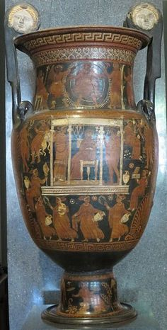 Red figure volute krater with scene of the Underworld, follower of the Baltimore Painter, Hermitage - Hades - Wikipedia
