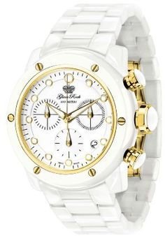 $279, Gr50105 Aqua Rock Chronograph White Dial Ceramic Watch by Glam Rock. Sold by Amazon.com. Click for more info: http://lookastic.com/women/shop_items/61641/redirect