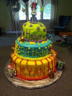 Ryan's toy story birthday cake!