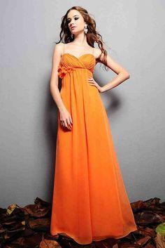 Hunter Orange Bridesmaid Dresses