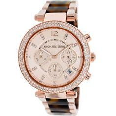 Michael Kors Women's Parker MK5538 Rose-Gold Stainless-Steel Quartz Watch