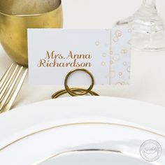 Bring the fun of bubbly to your wedding reception with these champagne inspired menu cards, table numbers, and place cards.   Wedding Invitations by CharmCat Stationery & Design
