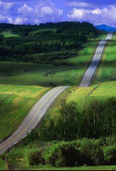 Rolling hills...