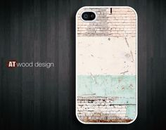 iphone 4 case iphone 4s case iphone 4 cover iphone case old wall Time Passes design printing. $13.99, via Etsy.