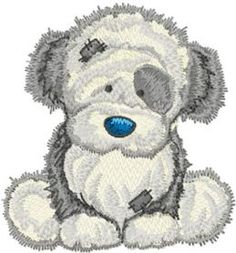 Fluffy machine embroidery design. Machine embroidery design. www.embroideres.com