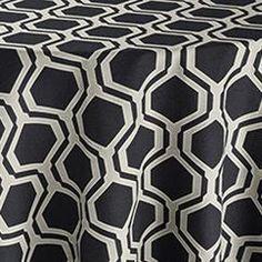 Black Honeycomb Reversed Table Linen   Tablecloth Rentals