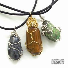 How to wrap irregular shaped stones - several approaches.  #Wire #Jewelry #Tutorials