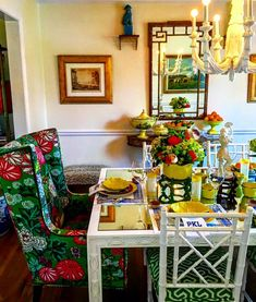 Palm Beach Chic thanksgiving table design by Parker Kennedy Living